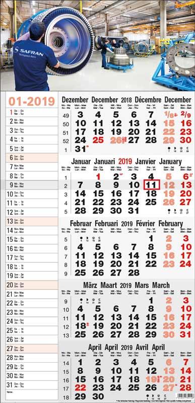 Calendrier-publicitaire-multi-blocs-5-mois-Memo-5M14.1-memo-modele-gris