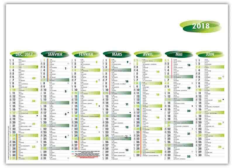 calendrier-bancaire-publicitaire-7-mois-florentin-vert-recto