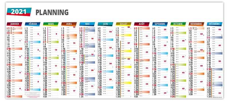Grand Calendrier 2021 Calendriers planning cartonnés grand format | MS Calendriers