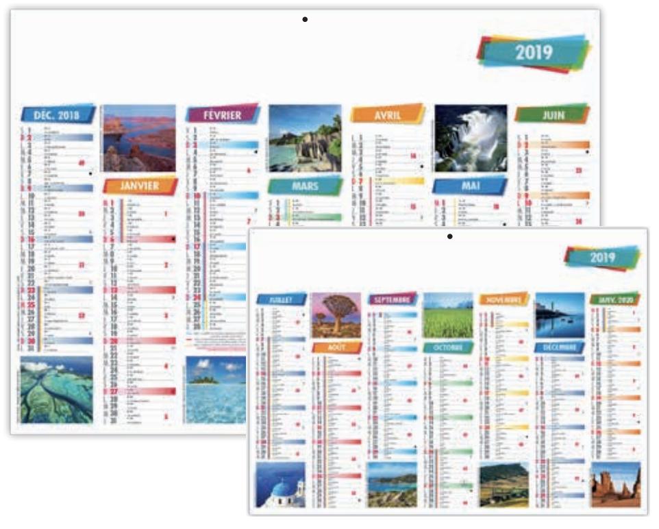 calendrier bancaire publicitaire personnalisé