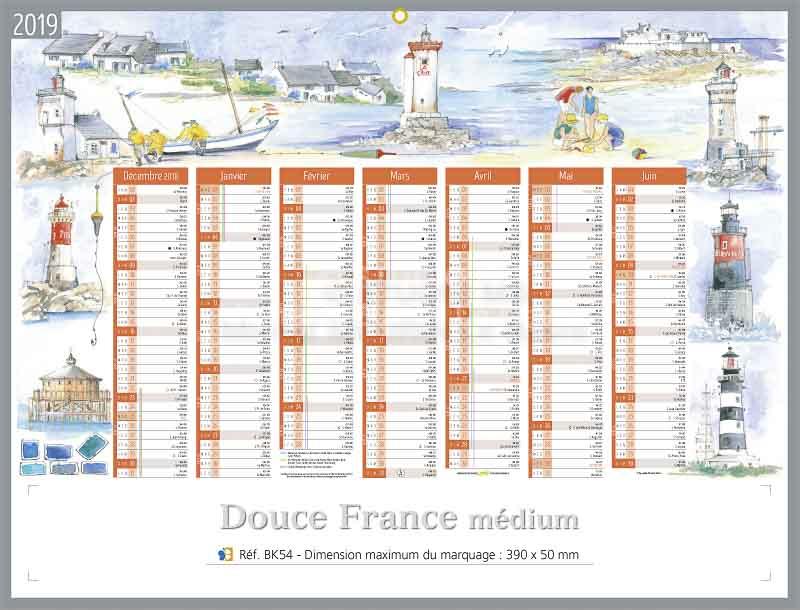 Calendrier-bancaire-publicitaire-douce-france-médium-r-BK54