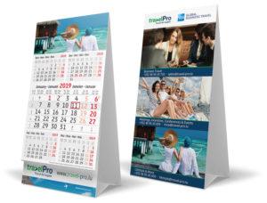 calendrier publicitaire chevalet 3 et 4 mois vertical