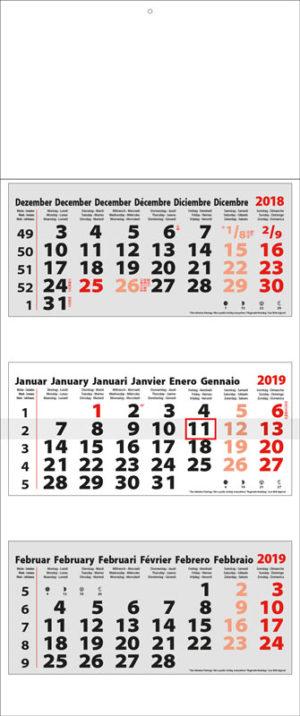 Calendrier-publicitaire-multi-blocs-3-mois-Maxi-Compact-3MxG-Mega-gris