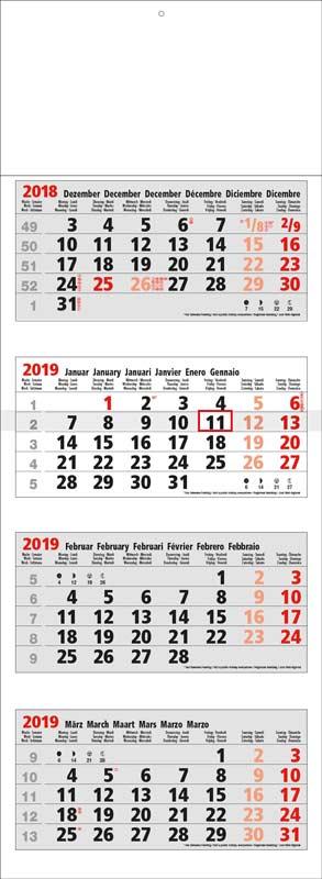Calendrier-publicitaire-multi-blocs-4-mois-Maxi-4MG-compact-gris