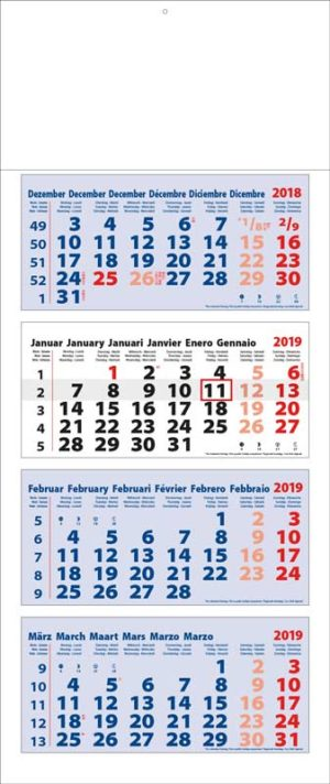 Calendrier-publicitaire-multi-blocs-4-mois-Maxi-4MxB-Ultra-Short-bleu