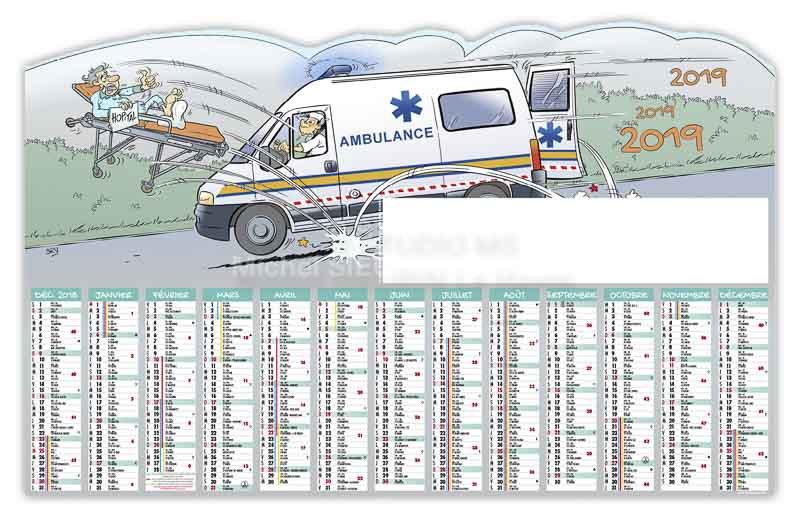 calendrier-bancaire-ambulancier-decoupe-13-mois-2019