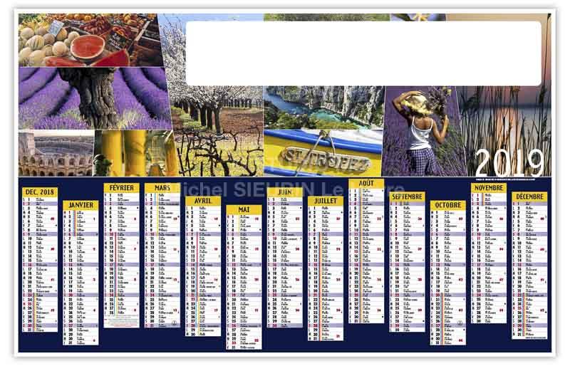 calendrier-publicitaire-bancaire-couleurs-du-sud-13-mois-2019