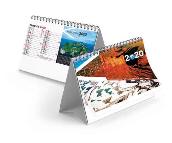 Calendrier-publicitaire-chevalet-standard-13-feuillets-coup-d'oeil-2020
