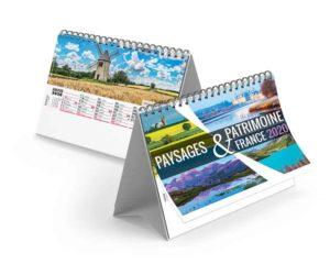 Calendrier-publicitaire-chevalet-standard-13-feuillets-paysages-de-France-2020