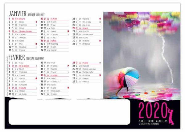 Calendrier-publicitaire-chevalet-de-table-std-7-mois-improbables-janvier-2020
