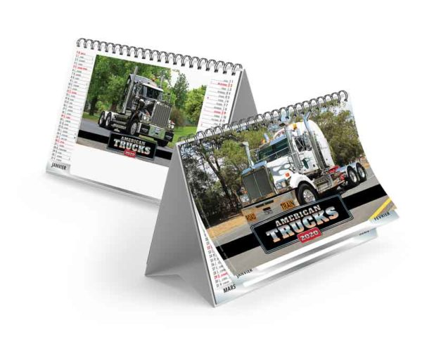 Calendrier-publicitaire-chevalet-de table-7-feuilles-trucks-2020