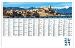 Calendrier planning avec photo Antibes