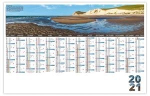 Calendrier planning avec photo du cap blanc nez