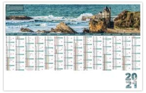 Calendrier planning entreprise photo côte Biarritz