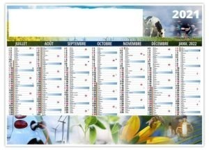 Calendrier bancaire agriculture durable