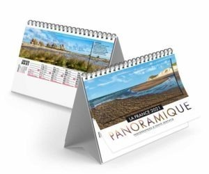 Calendrier publicitaire chevalet photo de France