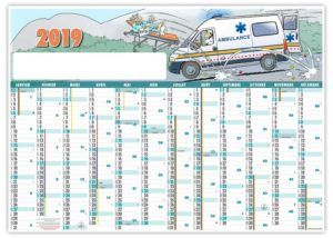 calendrier-publicitaire-planning-effacable-ambulancier-2019