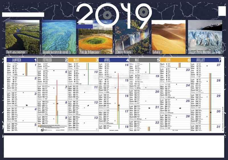 calendrier-publicitaire-bancaire-planete-6 mois