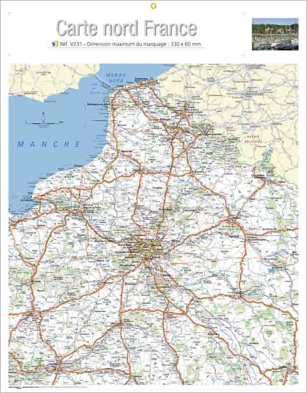 Calendrier-publicitaire-bancaire-publicitaire-verso-carte-nord-France-V231