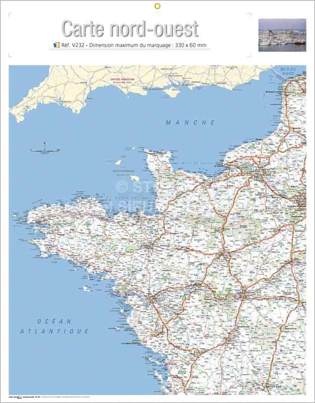 Calendrier-bancaire-publicitaire-verso-carte-nord-ouest-V232