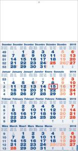 Calendriers publicitaires 4 mois monobloc