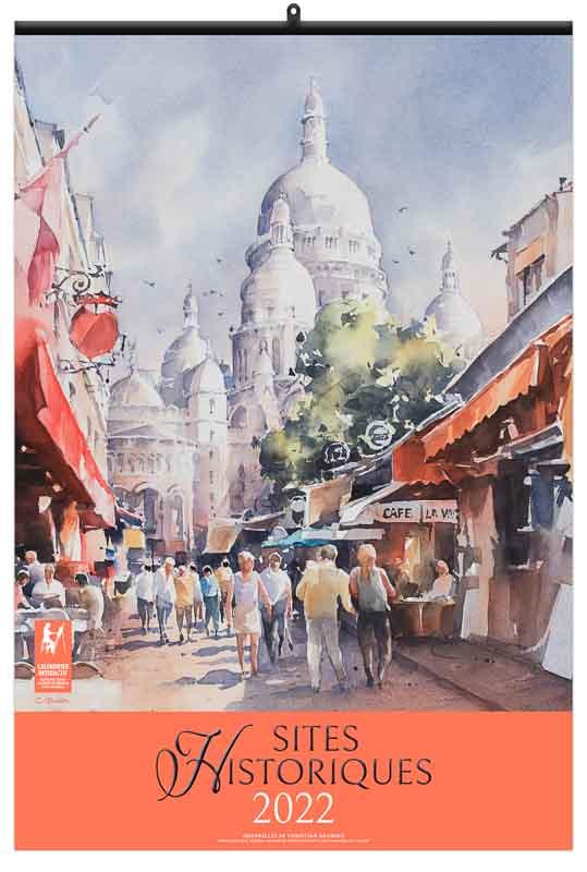calendrier publicitaire peintures sites historique