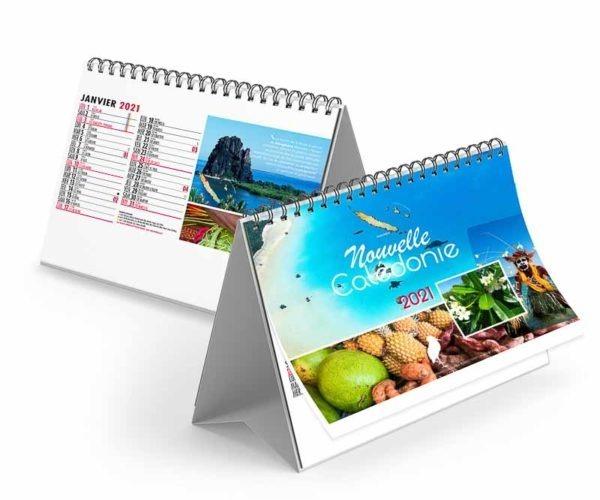 Calendrier publicitaire chevalet photograzphies de Nouvelle Calédonie