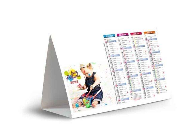 calendrier chevalet de comptoir publicitaire jeux d'enfants