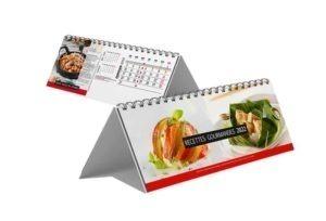 calendrier publicitaire chevalet cuisine gastronomique 13 feuilles