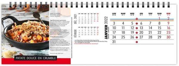 calendrier-publicitaire-chevalet-maxi-de-table-13-feuilles-recettes-gourmandes-janvier-2022