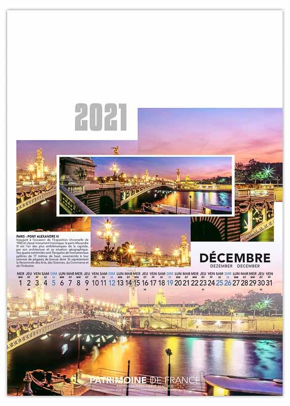 calendrier-publicitaire-mural-illustre-feuilles-photo-patrimoine-de-france-decembre-2021