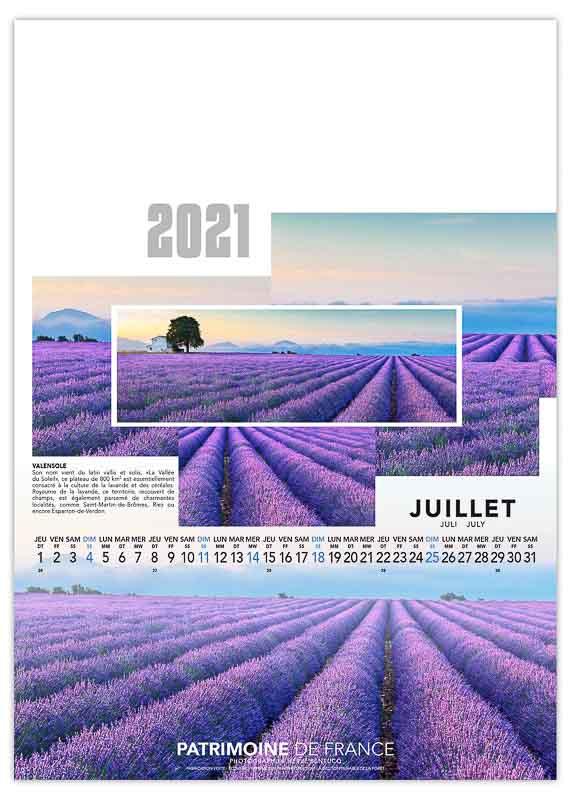 calendrier-publicitaire-mural-illustre-feuilles-photo-patrimoine-de-france-juillet-2021