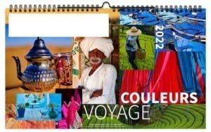Calendrier publicitaire illustré photographies couleurs de voyage
