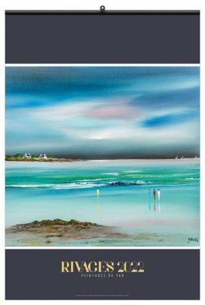 calendrier publicitaire mural peintures de rivages 7 feuilles