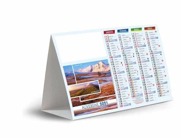calendrier chevalet de comptoir vues de la France