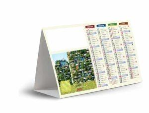 calendrier ce comptoir avec immeuble végétalisé