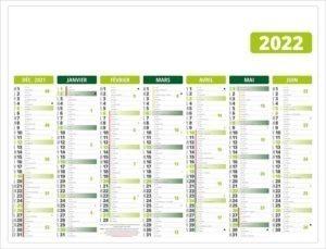 calendrier-pas-cher-publicitaire-bancaire-personnalise-7-mois-gameco-vert-recto-2022