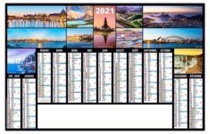 calendrier planning pour entreprise photo de voyages