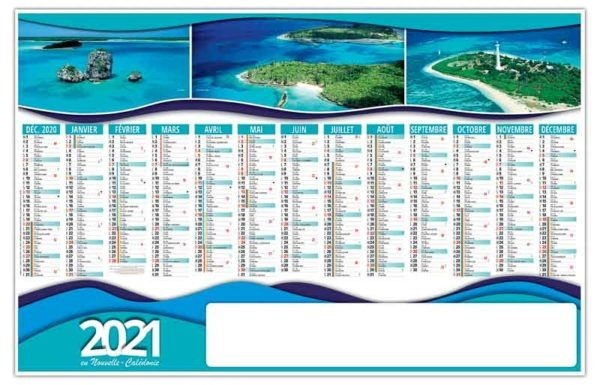 planning calendrier publicitaire photo exotiques
