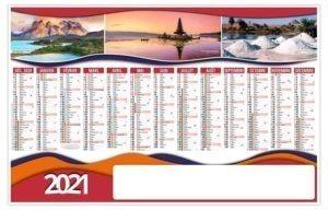 calendrier planning avec photographie de notre planète