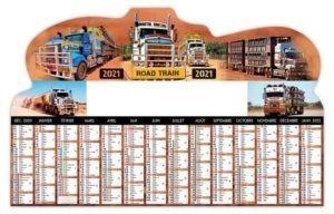Calendrier bancaire publicitaire camions australiens
