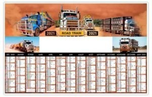 Calendrier planning camion trains routier australien