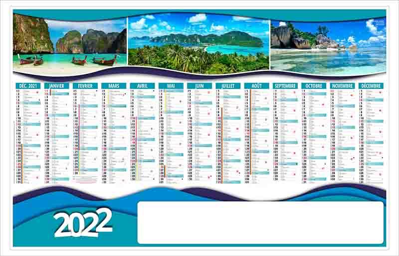 Calendrier 2022 Personnalisé Calendrier publicitaire planning PLANETE 13 MOIS | MS Calendriers