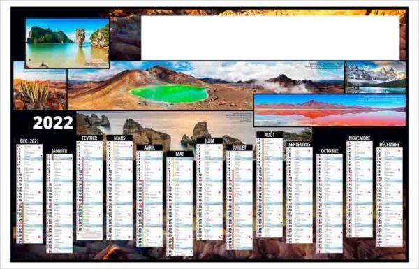 calendrier-publicitaire-bancaire-planning-personnalise-13 mois-tour-du-monde-2022