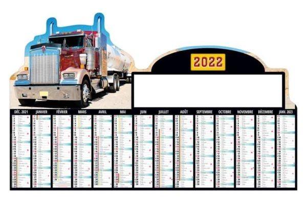 calendrier-entreprise-carton-planning-personnalise-14 mois-camions-routier-decoupe-2022