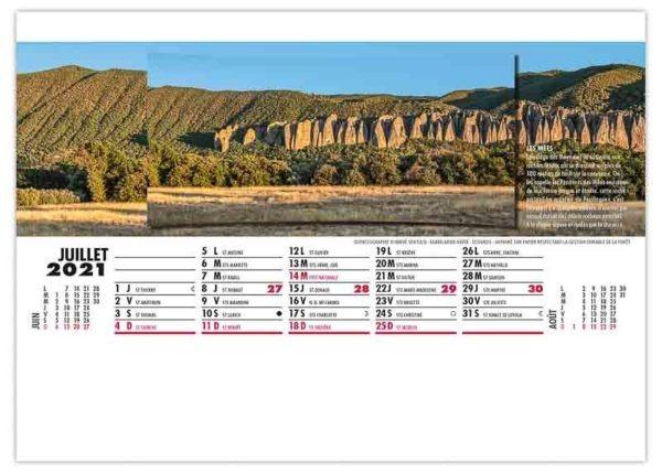 calendrier publicitaire chevalet photo panoramique des Mées