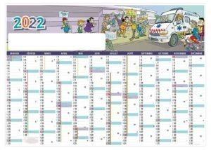 calendrier-entreprise-bancaire-planning-mural-effaçable-12-mois-ambulancier-humoristique-2022