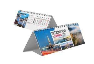 calendrier publicitaire chevalet de bureau 13 feuilles patrimoine de la France