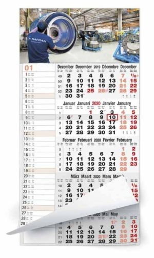 Calendriers publicitaires 5 mois monobloc