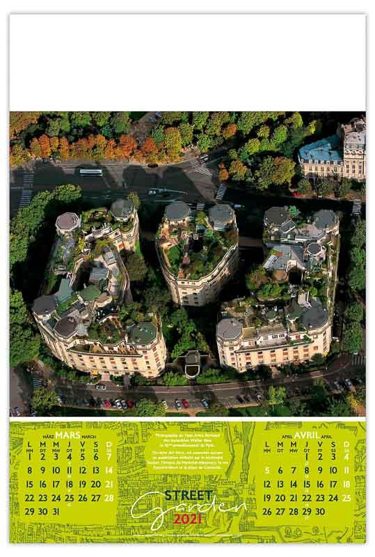 calendrier-publicitaire-mural-illustre-feuilles-immeubles-vegetalises-7-feuilles